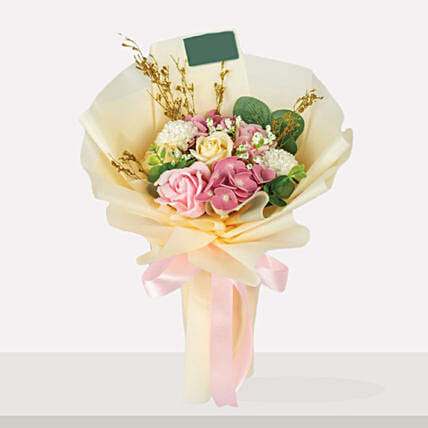 Premium Mixed Flowers Beautifully Tied Bouquet