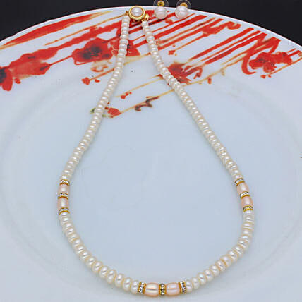Camundi One Line  Pearl set:Send Daughters Day Gifts to Malaysia