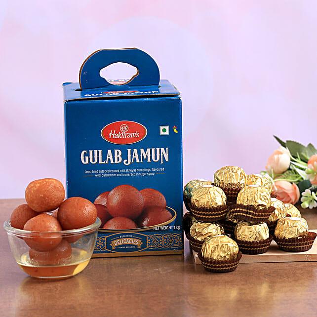 Haldirams Gulab Jamun And Ferrero Rocher Combo