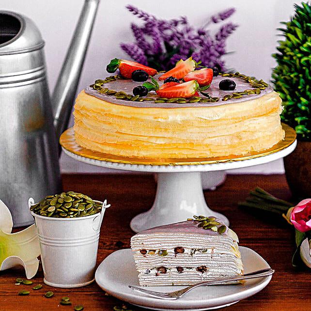Yam Crepe Cake:Order Anniversary Cakes in Malaysia