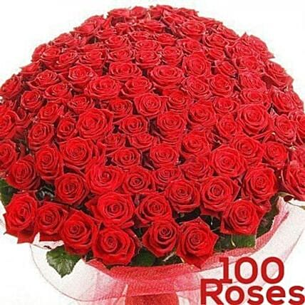 Blooming Love 100 Roses Bunch