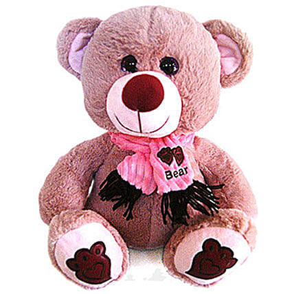Cute Pink Teddy Bear With Glitter Sparkle Eyes 17 Inch