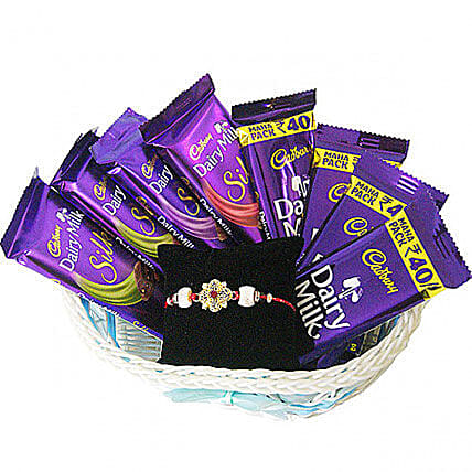 Delicious Choco Basket And Rakhi Combo