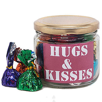 Hugs And Kisses Message Candy Jar:Send Gifts to Nepal
