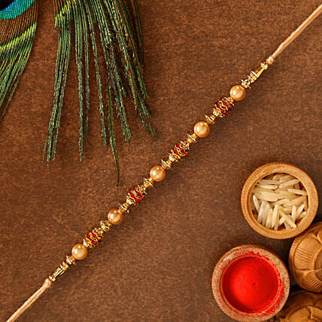 Traditional Golden Rakhi:Send Rakhi to Netherlands