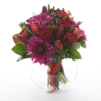 Dark Red Posy