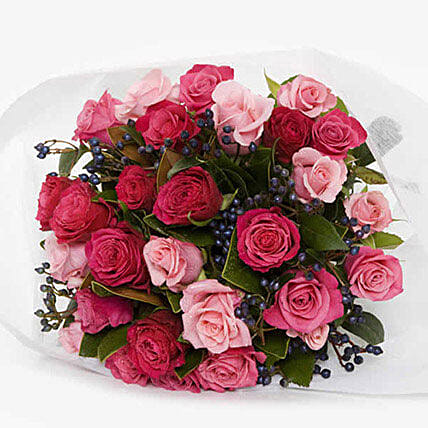 Sassy Pink Roses Bouquet
