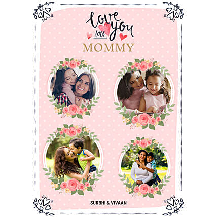 Personalised Love You Mom Digital Collage:Mother's Day Gifts to New Zealand