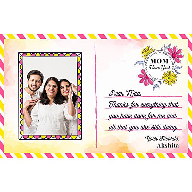 Personalised Love You Mom E Postcard