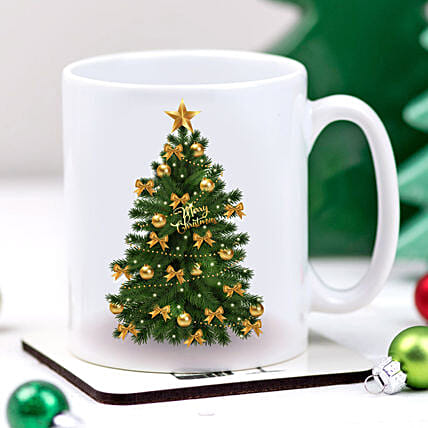Christmas Tree Printed Mug:Christmas Gifts Delivery In New Zealand