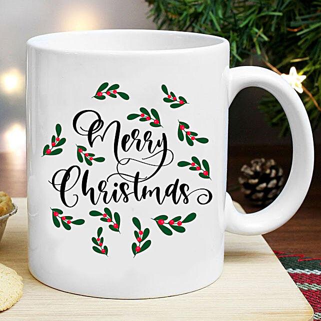 Pretty Merry Christmas Mug:Send Christmas Gifts to New Zealand