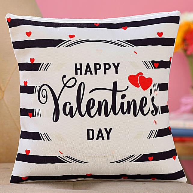 valentine day printed cushion for husband