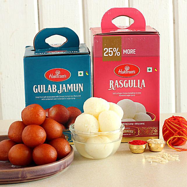 Bhai Dooj Greetings Sweets Combo