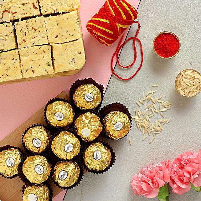 Happy Bhai Dooj Ferrero Rocher And Soan Papdi Combo