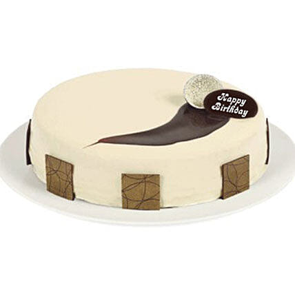 White Mud Cake:Send Anniversary Cakes To New Zealand