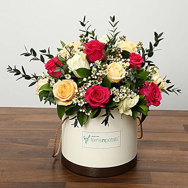 Beautiful Mixed Roses Arrangement OM