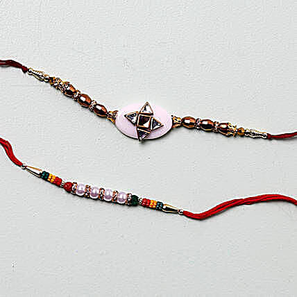 Cheerful Designer Rakhis For Brother:Rakhi for Brother in Oman