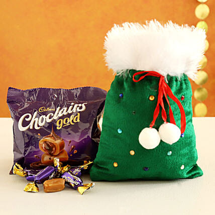 Choclairs Candy Filled Furry Green Pouch