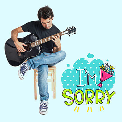 Musical I Am Sorry Tunes:Guitarist On Video Call In Oman