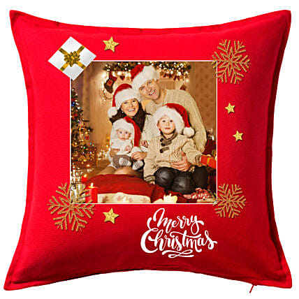 Personalised Xmas Greetings Cushion:Christmas Gifts Delivery In Oman