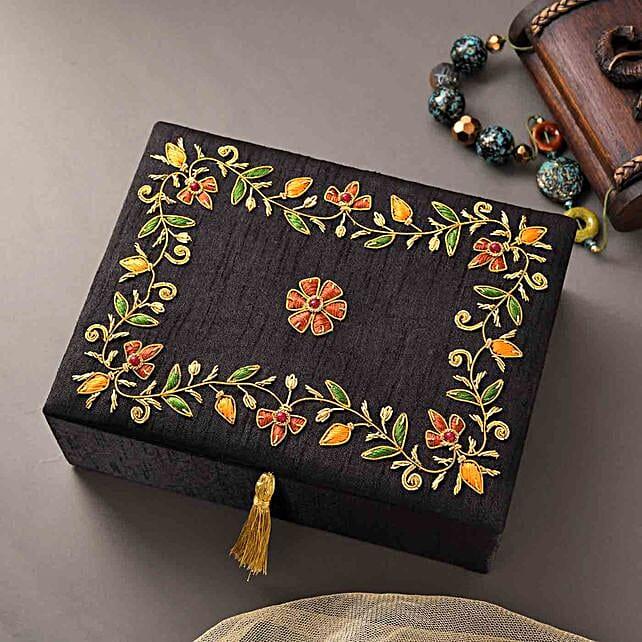 Beautiful Zari Work Jewellery Box
