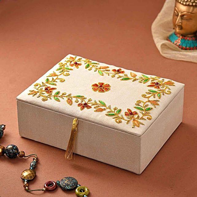 Beautifully Embellished Jewellery Box