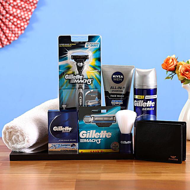 Gilette Men Grooming Hamper:Send Bhai Dooj Gifts to Oman