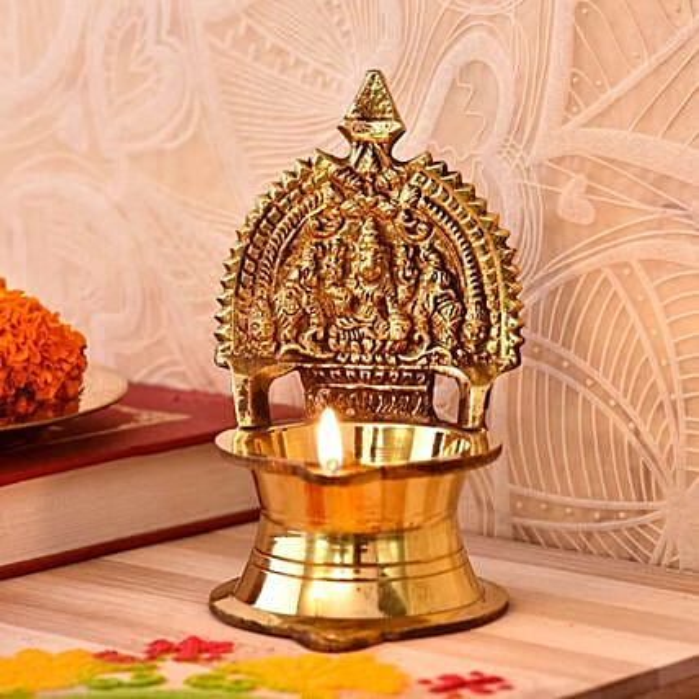 Divine Kamakshi Brass Diya