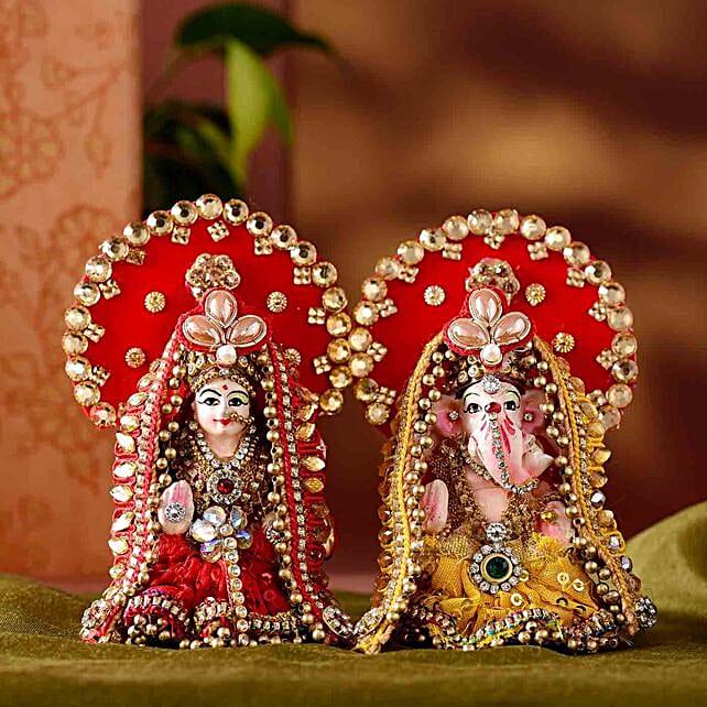 Divine Lakshmi Ganesha Idol Set