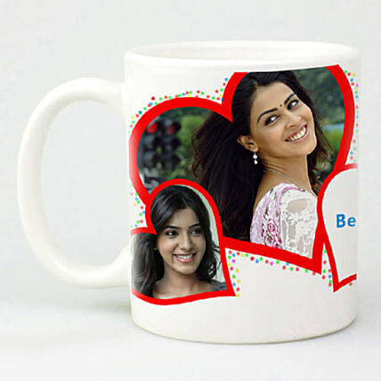 Red Hearts Personalized Mug:Send Gifts to Pakistan