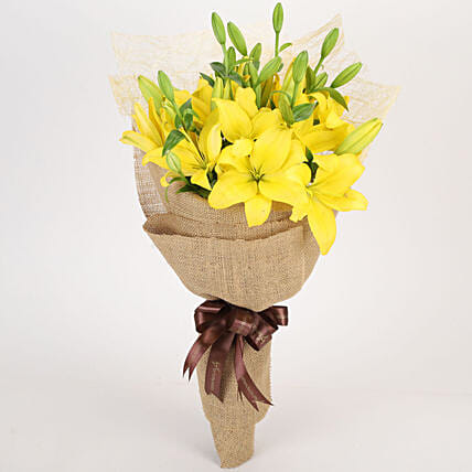 Cheerful Asiatic Yellow Lilies