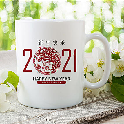Chinese New Year Wishes Printed Mug