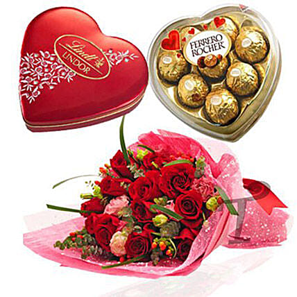 Chocolate And Roses For V Day