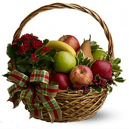 Fresh Seasonal Fruit Basket:Gift Baskets to Philippines
