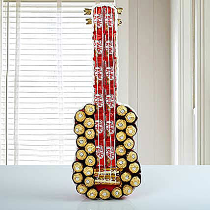 Guitar Of Chocolates:Chocolate Baskets to Philippines