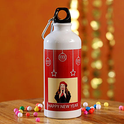 Happy New Year Personalised Water Bottle:Send New Year Gifts to Philippines