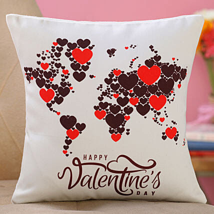 valentine day printed cushion for girlfriend