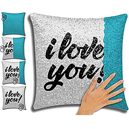 I Love You Printed Mermaid Cushion:Personalised Gifts Items Philippines