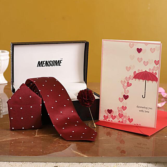 Maroon Tie Gift Set