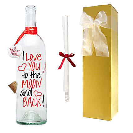Moon And Back Message Bottle
