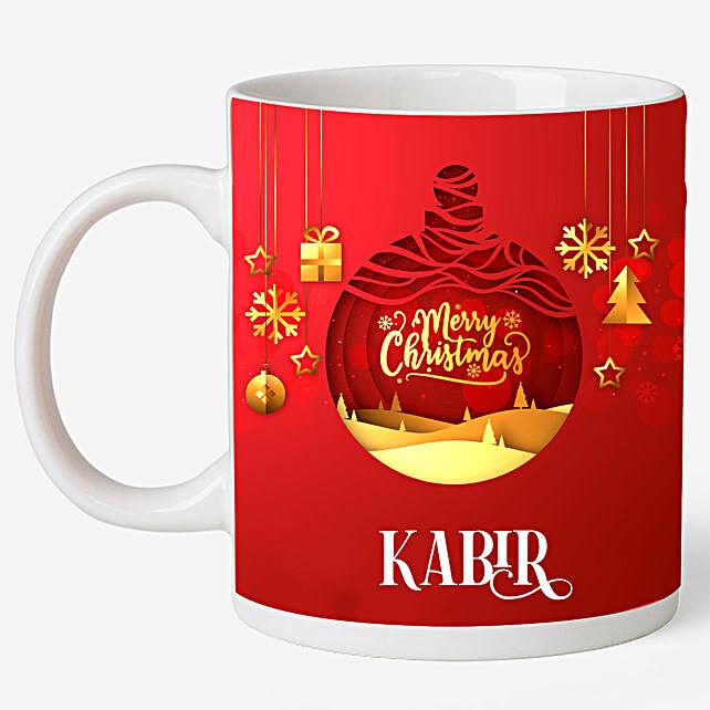 Personalised Christmas Wishes Mug
