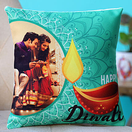 online printed happy diwali cushion