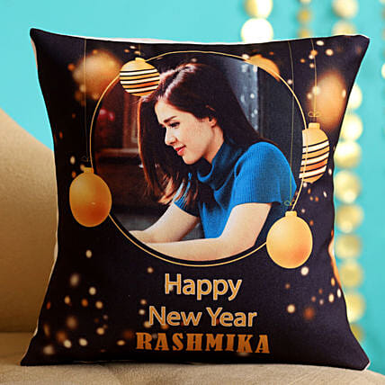 Personalised Happy New Year Cushion Hand Delivery