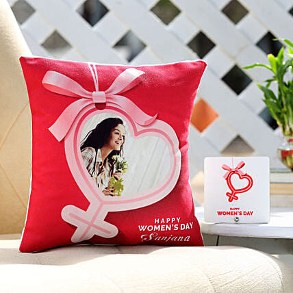 Online Photo Cushion For Women's Day