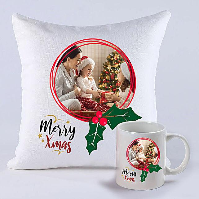 Personalised Xmas Memories Cushion And Mug