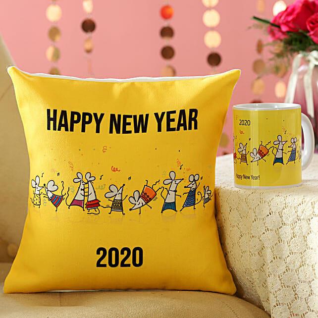 Rat Party New Year MugAnd Cushion Combo