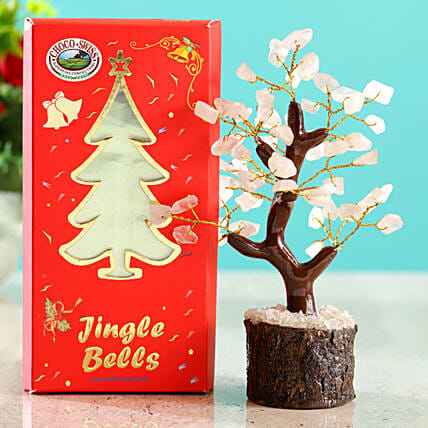 Rose Quartz Wish Tree & Choco Swiss Jingle Bells