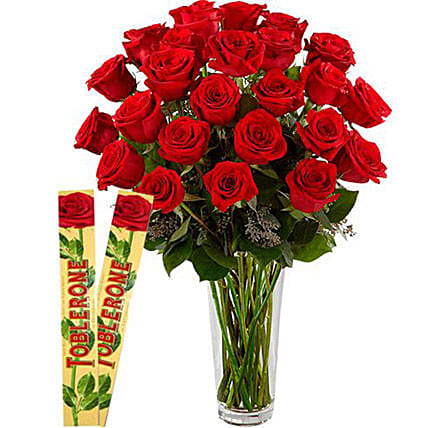 Rosy Choco Combo:Send Roses to Philippines