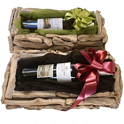 Rustic Wine Gift:Christmas Gift baskets to Philippines
