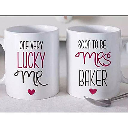 Set Of 2 Beautiful Personalized Mugs:Personalised Gifts Items Philippines